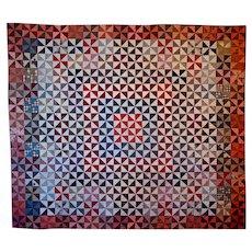 Antique Quilt ~ 19th c INDIANA ~ Unwashed Unused
