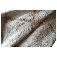 ELEGANT Antique 19thc Quilt ~ Exquisite Quilting