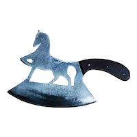Folk Art Zoomorphic Animal Cleaver ~ Carved Horse Chopper