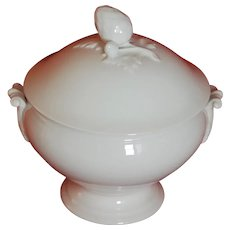 Classic French White Ironstone Soup Tureen