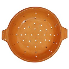FRENCH Vintage Yellow ware COLANDER ~ Great Color