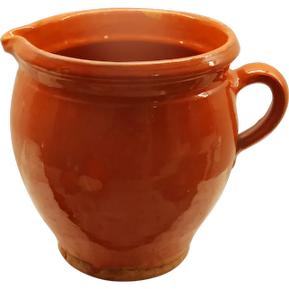 LG French Vintage Water Pitcher ~ PROVENCAL Pottery