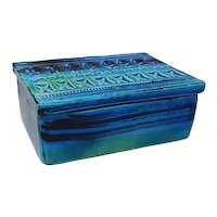 1960s Bitossi Box by Aldo Londi Blue Collection