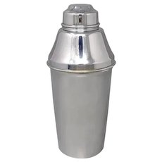 1950s Stunning ALFRA Cocktail Shaker by Carlo Alessi in Stainless Steel. Made in Italy