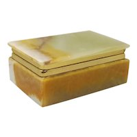Astonishing Vintage Alabaster Box Made in Italy 1960s