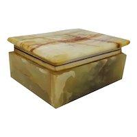 Prodotti Astonishing Vintage Green Alabaster Box Made in Italy 1960s