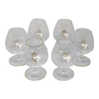 Baccarat Napoleon Model 6 Cognac glasses in Crystal 1960s