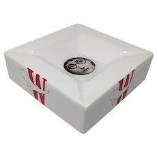 1970s Fornasetti Porcelain Ashtray/Empty Pocket designed by Piero Fornasetti for Winston