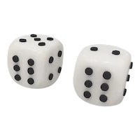 Stunning Pair of Big Italian Marble Dices. Made in Italy. 1970s