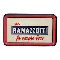 1960s Stunning Italian Vintage Ramazzotti Rectangular Bar Tray