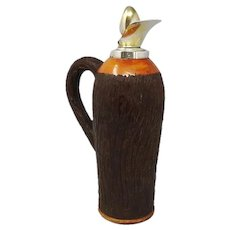 1950s Stunning Aldo Tura Pitcher in Brass and Wood, Made in Italy