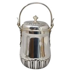 1950s Thermal Ice Bucket in Silver Plated by Aldo Tura for Macabo. Made in Italy.
