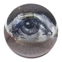 Fornasetti Astonishing Vintage Crystal Sphere 1968
