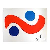 "Original Astonishing Calder ""Skybird""Limited Edition Print Lithograph 1974 (Braniff Airplines)"