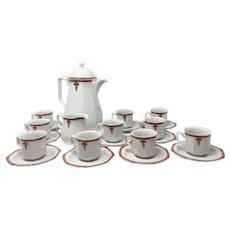 Art Deco White Coffee and Tea Set, 1930s