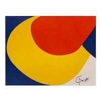 "Original Astonishing Alexander Calder ""Convection""Limited Edition Print Lithograph 1974 (Braniff Airplines)"