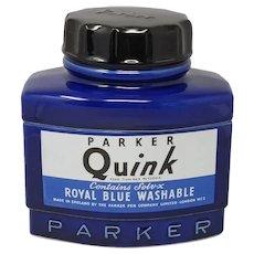 Rare Giant Parker Quink Ink Ceramic Jat, Designed by Hobbs Welch 1982