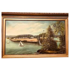 Civil War Military Encampment Painting