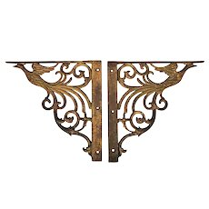 "Cast Iron ""Bird of Paradise"" Brackets"