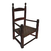 Early Child's Ladder Back Arm Chair