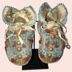 Kiowa Infant's Beaded Moccasins