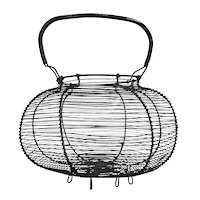 Large and Graphic Wire Egg Basket
