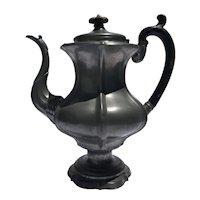 Dixon & Son Pewter Coffee Pot, circa mid 19th Century