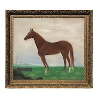 19th Century, Horse Portrait in Landscape