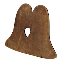 Rare, Pine, Liberty Bell Shaped Cutting Board, Ex. Margaret and Paul Weld Collection