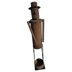 "Folk Art Iron ""Dandy"" Sculpture"