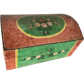 Paint Decorated Bride's Box