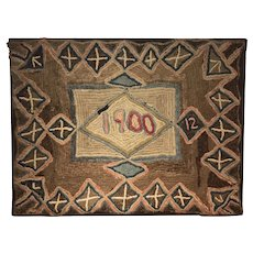 American Hooked Rug dated 1900