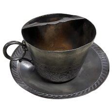 Presentation Mustache Cup and Saucer