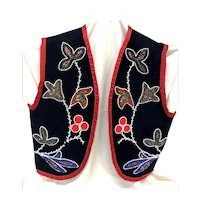 American Indian Vest with flowers and star motif, early 20th century