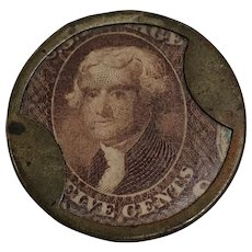 Thomas Jefferson Five (5) Cent Stamp Currency