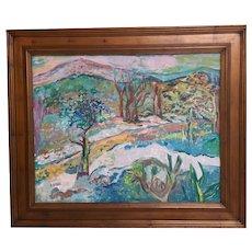 Impressionist Landscape by Jehudith Sobel (New York/Poland, 1924-2012)