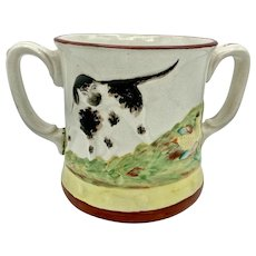 19th Century Staffordshire Frog Mug