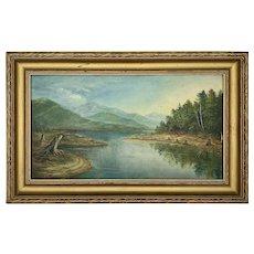 Adirondack Oil Painting of Indian Lake
