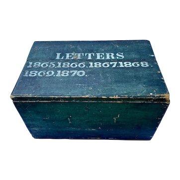 19th Century Primitive Letter Box