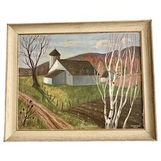 Painting of New England Farm
