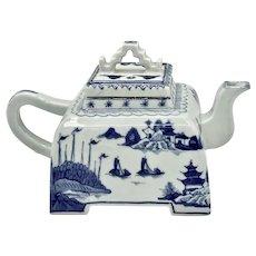 Canton Porcelain Square Teapot