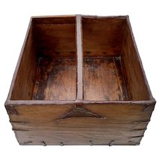 C. 1900 Wooden Chinese Rice Box