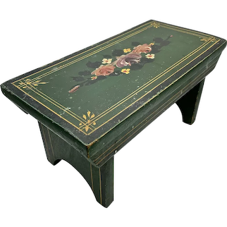 Mid-19th Century Green Painted Footstool
