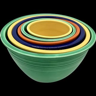 Set of Six Vintage Fiestaware Nesting Bowls