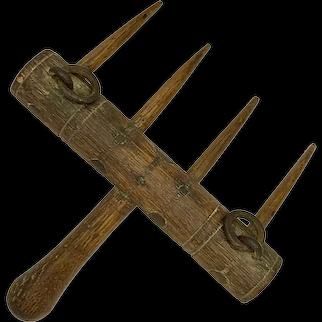 Primitive Wood Hand Rake