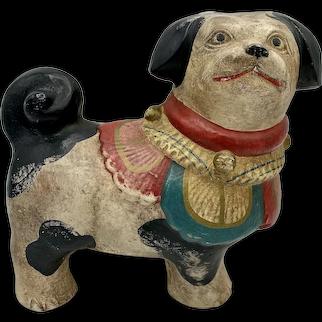 Chalkware Pug Dog
