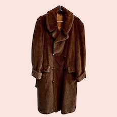 Alpaca Pile Men's Overcoat
