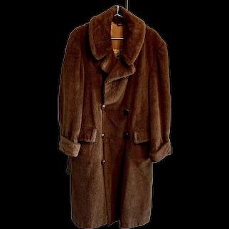 Alpaca Pile Men's Overcoat