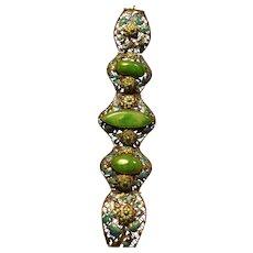 Antique Jadeite Jade(NATURAL) Bracelet circa 1895