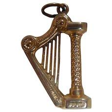 Vintage 14K Harp Bracelet Charm 3D